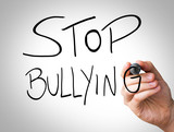 Stop Bullying Hand writing poster