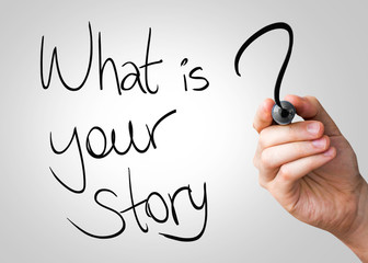 What is your story hand writing with a black mark