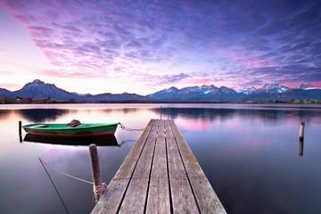 stiller Tagesanfang am See