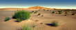 Leinwanddruck Bild - Amazing panoramic view of Sahara desert in Morocco