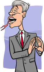 speaking with forked tongue cartoon