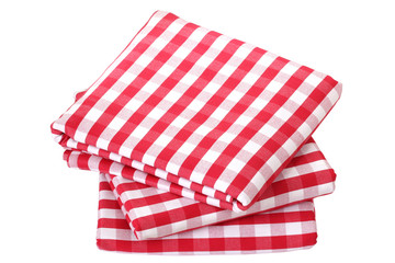 Folded fabric, gingham pattern