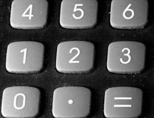 numbers rubber keys of the calculator