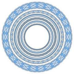 blue colour set of round geometrical frames