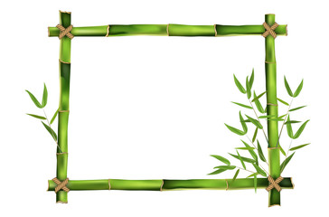 Bamboo frame for your message