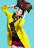 Fototapety Fashion model pose on light background