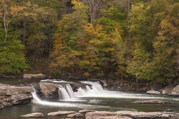 Valley Falls In Autumn
