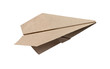 Brown Paper aircraft, Paper Plane on a white background