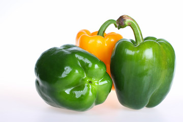 green and yellow bell pepper