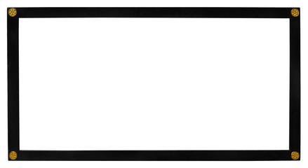 Vintage black frame isolated on white background