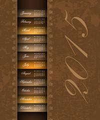 brown vintage 2015 calendar background