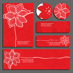 red invitations and flyers