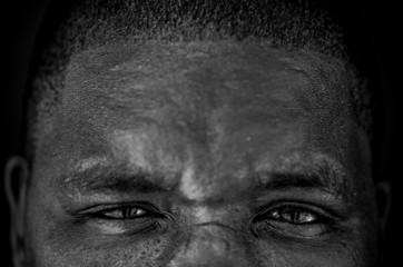 Black South African man.