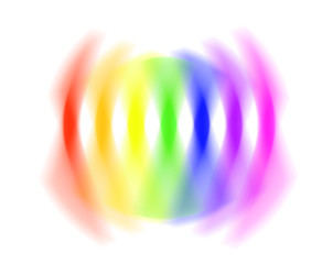 rainbow spectrum blur illustration on white