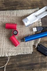 E-cigarette equipmen on table