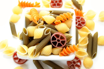 Nutritional Fancy Vegetable Pasta in Different Shapes