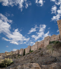 Alcazaba castle on Gibralfaro mountain. Malaga, Spain