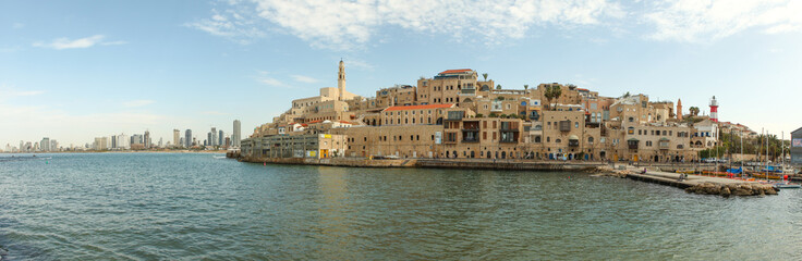 View of Jaffa with Tel Aviv in the background