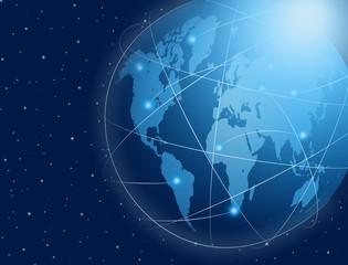 Global Communicatio link ; Technology Concept.