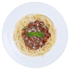 Spaghetti Bolognese Nudeln Pasta Gericht freigestellt