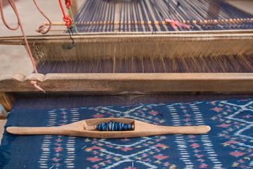 Equipment hand weaving in Thailand