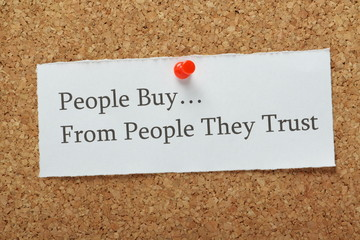 People Buy From People They Trust Reminder Message