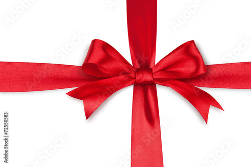 Red satin bow - 72550583