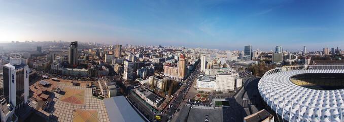 aerial panorama of Kiev city