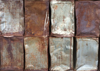 Rust texture on bucket  plate for background