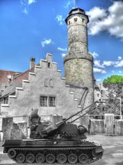 Damals und Heute Burg
