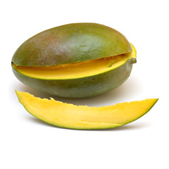 mango and a slice