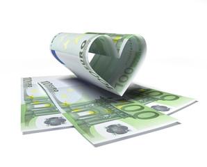 100 Euro mit Herz