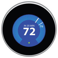 Nest Thermostat Blue