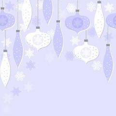 bombki i gwiazdki niebieski poziomy nieskończony deseń