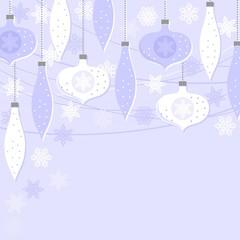 bombki i gwiazdki niebieska kartka świąteczna
