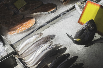 Salmon in store