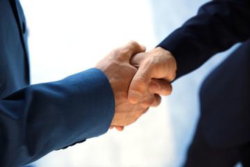 Closeup of a business handshake