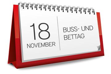 Kalender rot 18 November Buß- und Bettag 2015