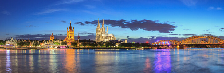 Cologne city skyline at Germany