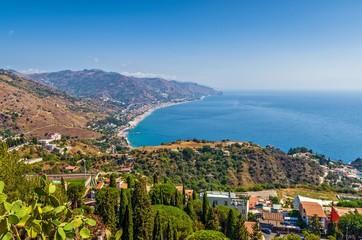 The coast of Taormina.