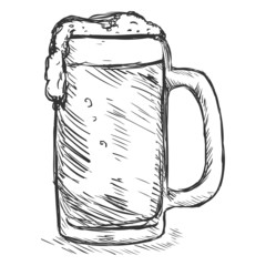 Vector Sketch Tankard of Beer