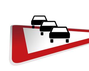 Verkehrsschild Achtung Staugefahr
