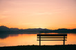canvas print picture - Sonnenuntergang Wallersee