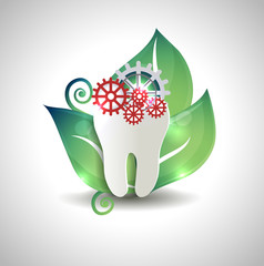 Abstract tooth treatment concept design