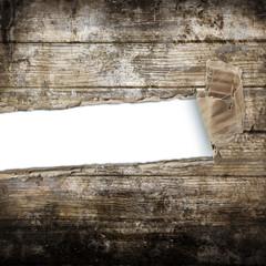 fondo di legno strappato
