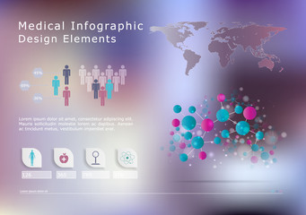 Medical, health and healthcare icons and infographic