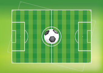 football soccer field background vector illustration