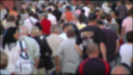 People crowd in blur timelapse