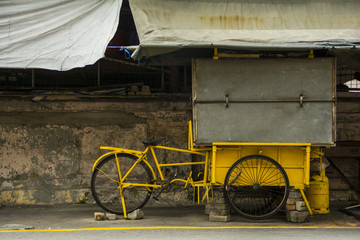 closed hawker stall, George Town, Malaysia