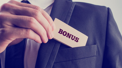 Businessman in Simple Bonus Concept